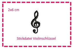 - Stickdatei Violinenschlüssel 2x6cm - Stickdatei Violinenschlüssel 2x6cm