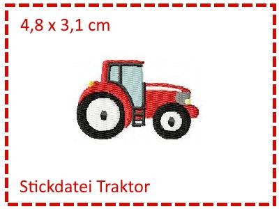 - Stickdatei Traktor Füllstich Mini 10x10cm - Stickdatei Traktor Füllstich Mini 10x10cm