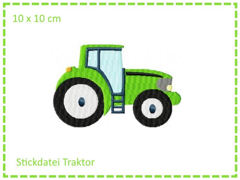 - Stickdatei Traktor Füllstich 10x10cm - Stickdatei Traktor Füllstich 10x10cm