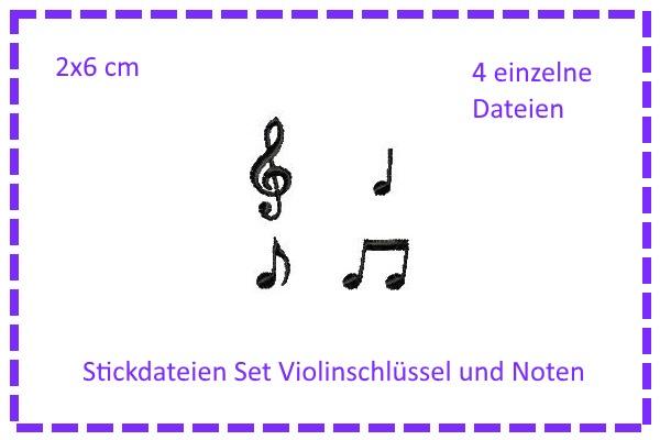 - SET Violinenschlüssel & Noten Stickdateien - SET Violinenschlüssel & Noten Stickdateien