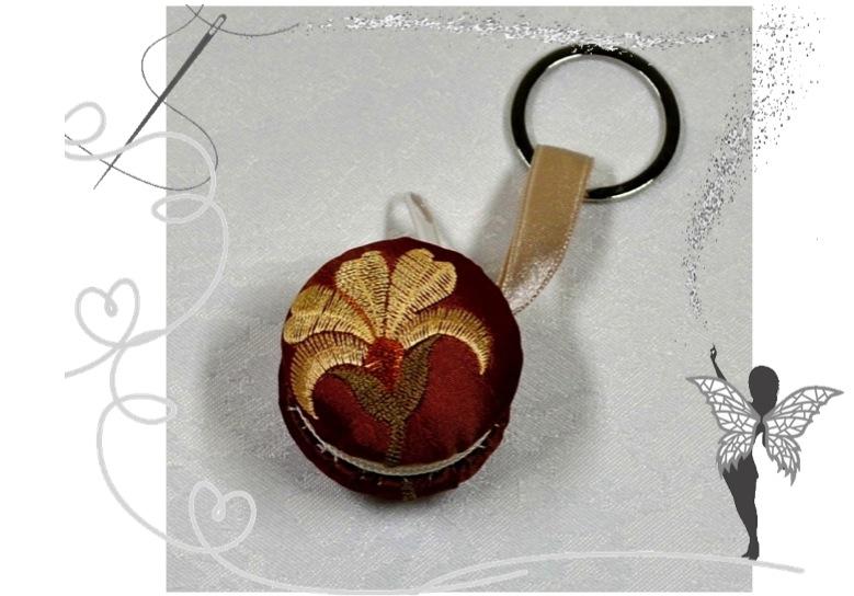-  Edler Macaron Schlüsselanhänger mit Blumenmotiv für kleine Dinge zum Aufbewahren -  Edler Macaron Schlüsselanhänger mit Blumenmotiv für kleine Dinge zum Aufbewahren