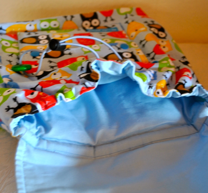Kleinesbild - Handgenähter,farbenfroher Kinderrucksack mit Eulenmotiv