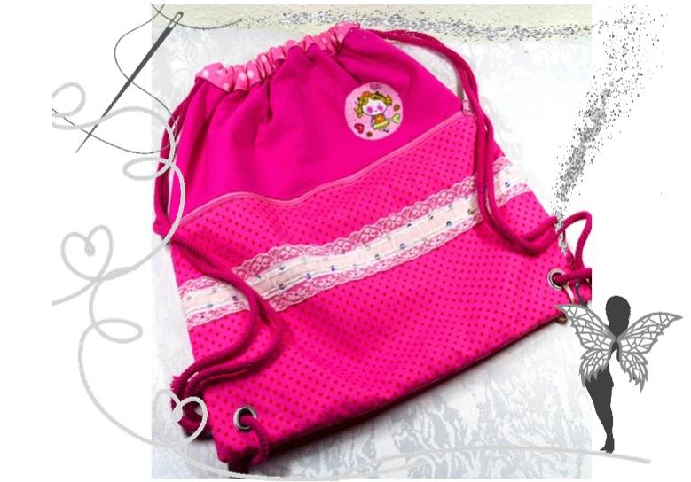 - Prinzessin-Rucksack,Turnbeutel rosa,pink mit Glitzerspitze - Prinzessin-Rucksack,Turnbeutel rosa,pink mit Glitzerspitze