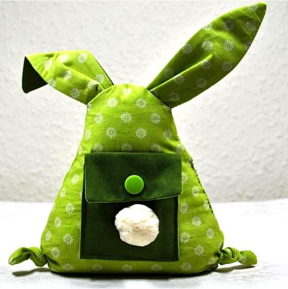 Kleinesbild - Lustiger,kleiner Hase mit Täschchen für Geldgeschenke,Gutscheine oder liebe Botschaften