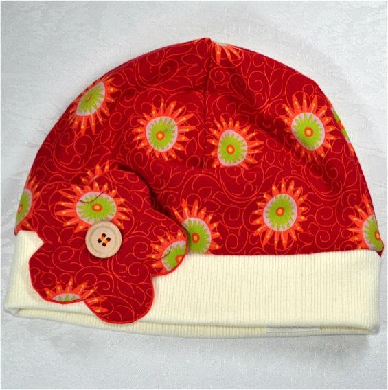 Kleinesbild - Farbenfrohe Mädchen-Mütze,Gr.50-52,1-2Jahren,handgemacht