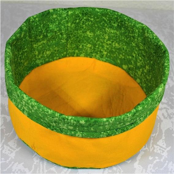 Kleinesbild - Utensilo,gelb-grün,Stoffkörbchen,Brotkörbchen gelb,Aufbewahrungskorb,kaufen