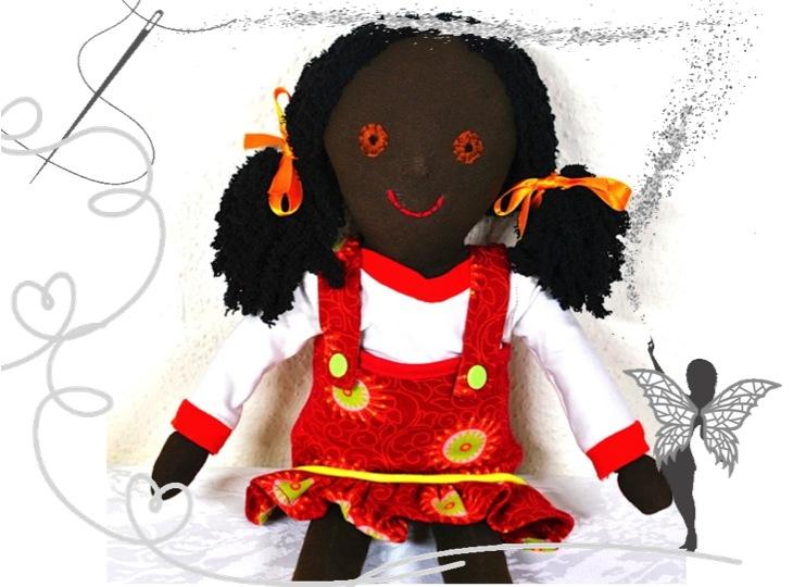 - Süße Stoffpuppe zum Liebhaben,handgenäht,mit 3-teiligem Puppenkleiderset - Süße Stoffpuppe zum Liebhaben,handgenäht,mit 3-teiligem Puppenkleiderset