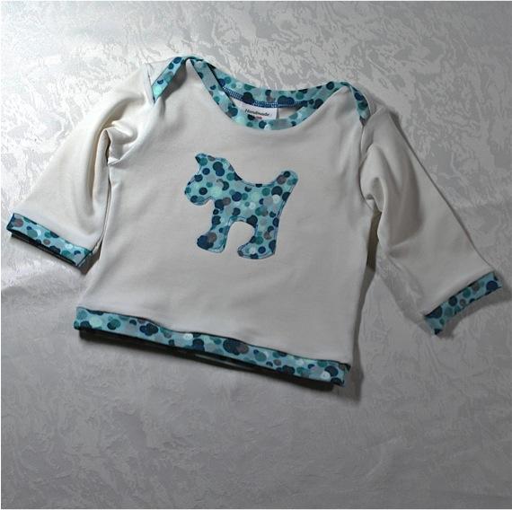 Kleinesbild - Babyset Gr.62,Langarmshirt und Leggins mit bunten Punkten,  Geschenk zur Geburt