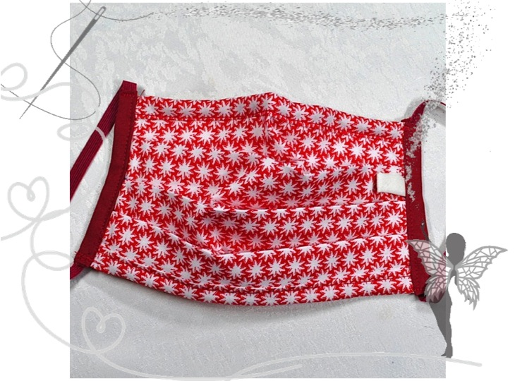 - Behelfsmaske mit Nasenbügel ,2-lagig,100%Baumwolle - Behelfsmaske mit Nasenbügel ,2-lagig,100%Baumwolle