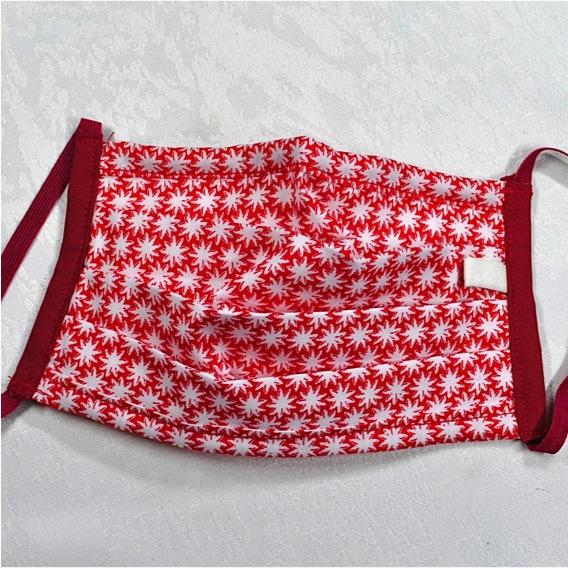 Kleinesbild - Behelfsmaske mit Nasenbügel ,2-lagig,100%Baumwolle