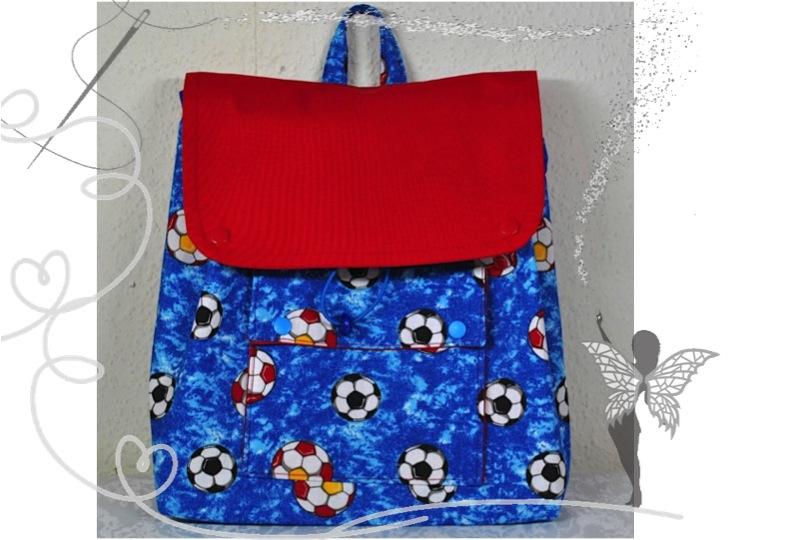 - Handgenähter,farbenfroher Kinderrucksack mit Fußbällen,kaufen - Handgenähter,farbenfroher Kinderrucksack mit Fußbällen,kaufen