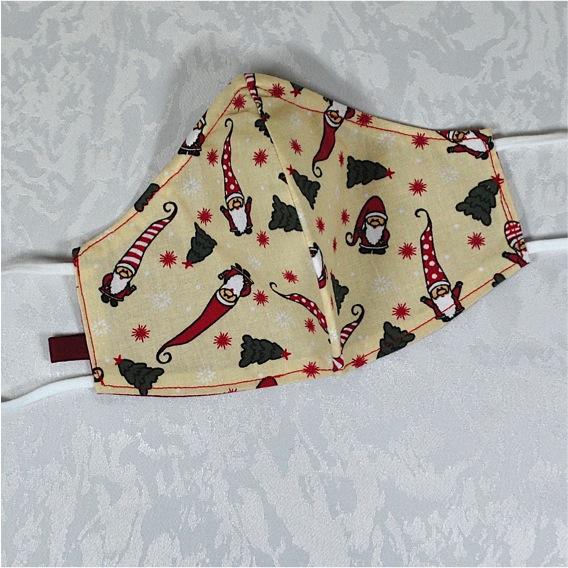 Kleinesbild - Behelfsmaske mit Nasenbügel ,2-lagig,100%Baumwolle,Wichtel