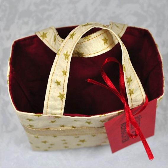 Kleinesbild - Kleines dekoratives Täschen für kleine Geschenke in der Adventszeit