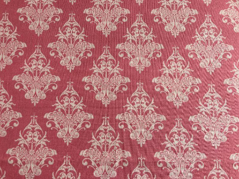 - Baumwoll-/Patchworkstoff rosa mit Ornamenten - Baumwoll-/Patchworkstoff rosa mit Ornamenten