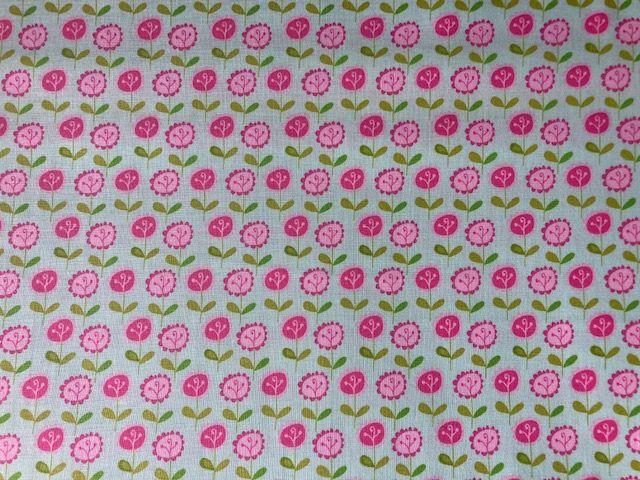 - Baumwollstoff mit kleinen Blumen auf zartgrünem Grund - Baumwollstoff mit kleinen Blumen auf zartgrünem Grund