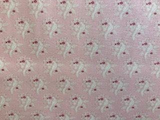 - Tilda Stoff rosa mit Vögel  - Tilda Stoff rosa mit Vögel