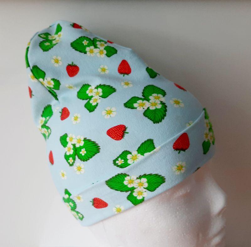 - Wende-Beanie im Erdbeerlook, Mütze, Kopfbedeckung, Handarbeit byRehfeldt - Wende-Beanie im Erdbeerlook, Mütze, Kopfbedeckung, Handarbeit byRehfeldt