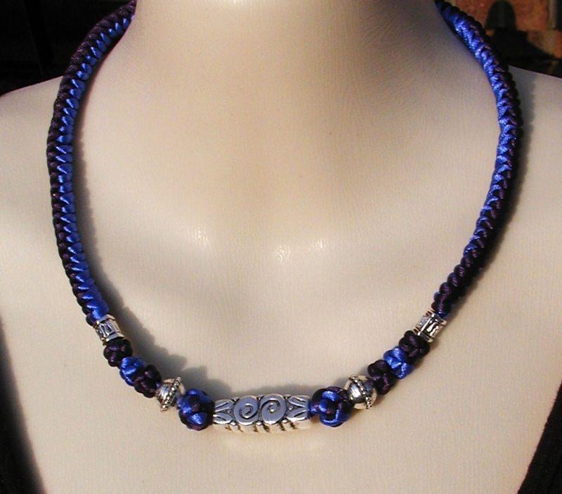 Kleinesbild - Kordelkette  Blau - Marine - Silber