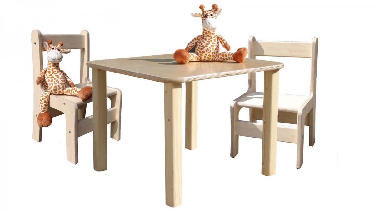 kinder kindersitzgruppe kinderm bel tisch und 2 st hle naturbelassen und unglaublich stabil. Black Bedroom Furniture Sets. Home Design Ideas