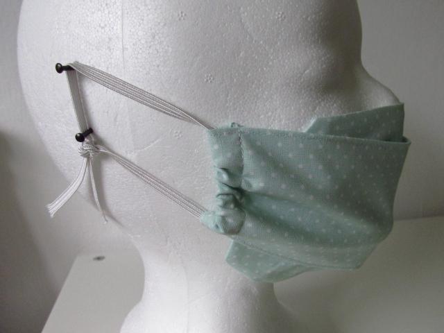 Kleinesbild -  Mund - und Nasenmaske - wiederverwendbar - waschbar - mintfarben - grün - Alltagsmaske - Gesichtsmaske - zero waste - umweltfreundlich
