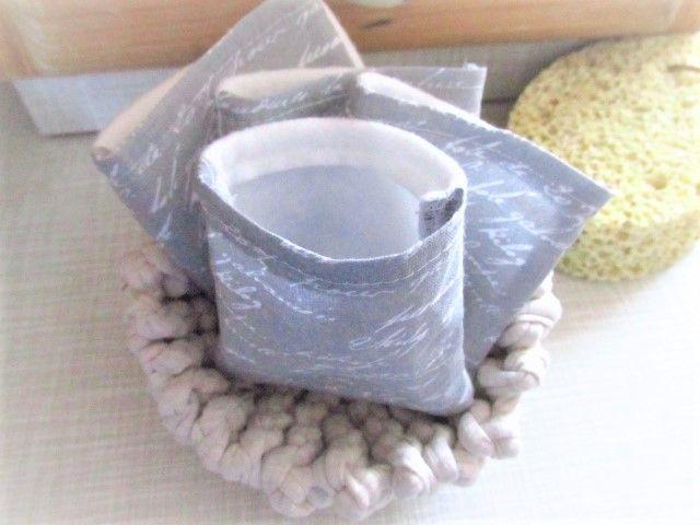 Kleinesbild - nachhaltige Kosmetikpads  Miniwaschlappen  wiederverwendbare Abschminkpads  zero waste  Make Up Entferner - beige