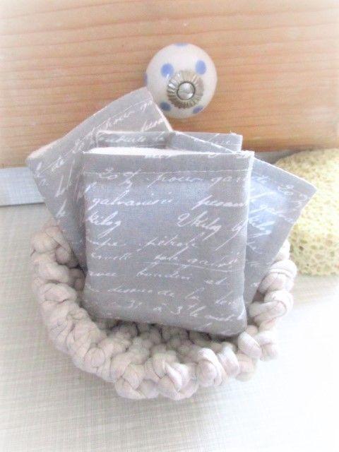Kleinesbild - nachhaltige Kosmetikpads  Miniwaschlappen  wiederverwendbare Abschminkpads  zero waste  Make Up Entferner - graublau