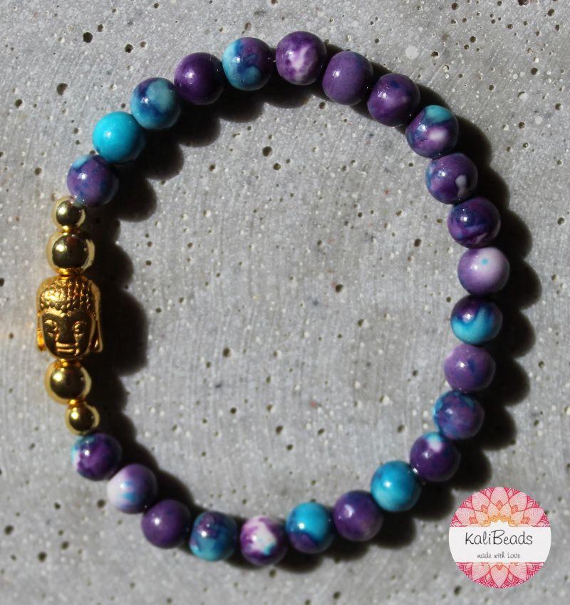 """Kleinesbild - Armband """"Blue-Buddha"""" aus Jade"""