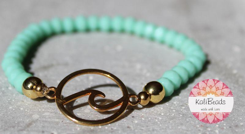 """- Armband """"Ocean-Wave"""" aus facettierten Glasperlen-Rocailles  - Armband """"Ocean-Wave"""" aus facettierten Glasperlen-Rocailles"""