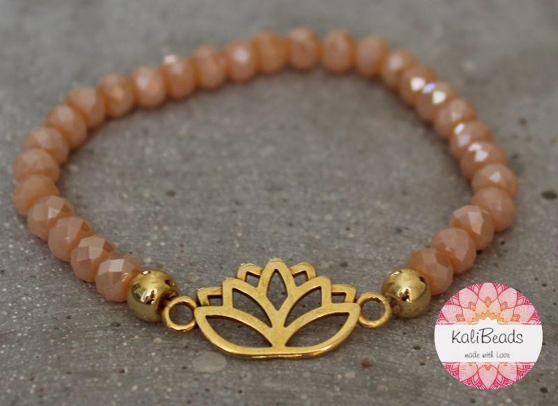 """Kleinesbild - Armband """"Lotus-Flower"""" aus facettierten Glasperlen-Rocailles"""