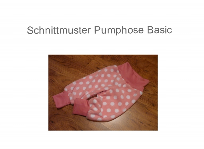 Kindermode : 62 - 116 Basic Pumphose - Schnittmuster - Ebook ...