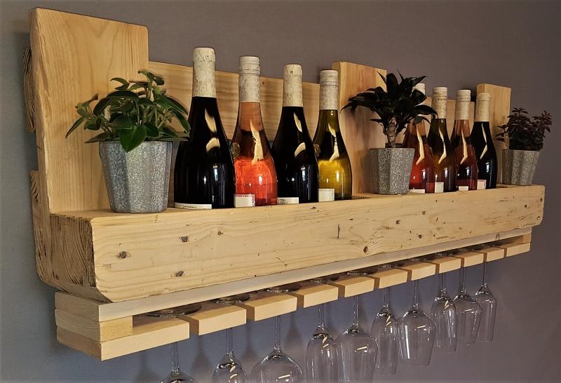 Extrem Wohnen : Weinregal Palette vintage natur Flaschenregal TK11
