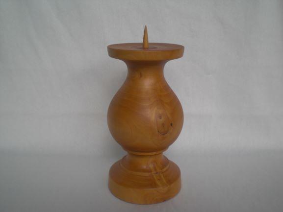- Kerzenständer gedrechselt aus Zedernholz, 18 cm, kaufen - Kerzenständer gedrechselt aus Zedernholz, 18 cm, kaufen