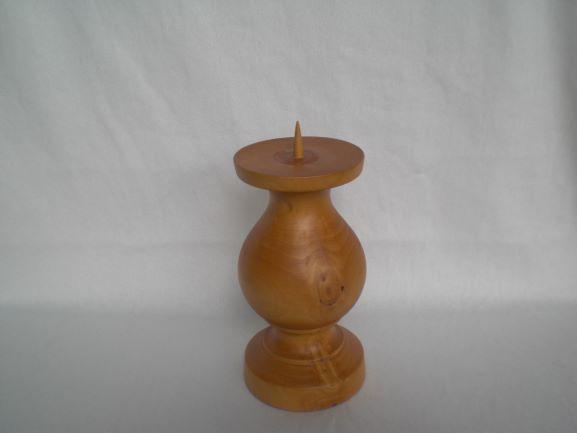 Kleinesbild - Kerzenständer gedrechselt aus Zedernholz, 18 cm, kaufen
