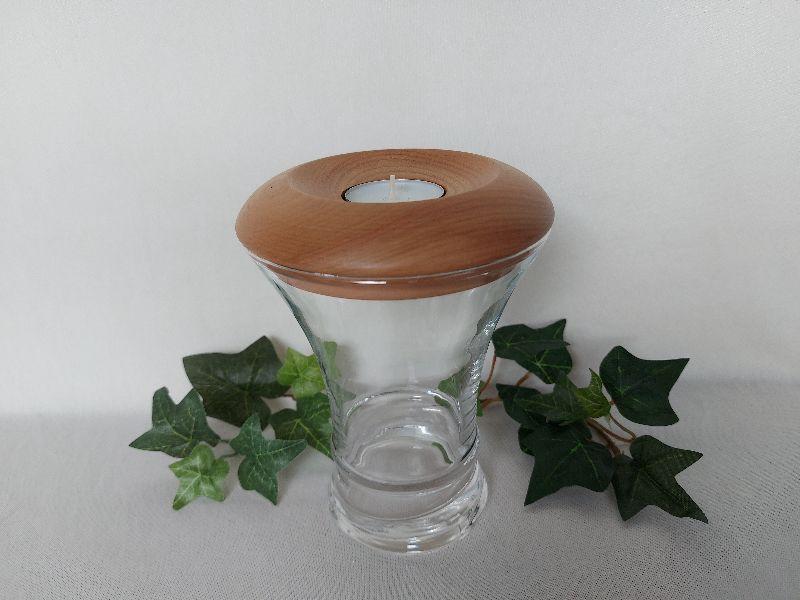 - großes Dekoglas mit Deckel/Teelichthalter aus Holz, gedrechselt kaufen - großes Dekoglas mit Deckel/Teelichthalter aus Holz, gedrechselt kaufen