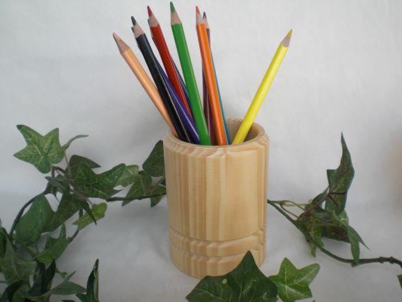 - Stiftebox aus Holz, gedrechselt incl. 12 Buntstiften, Handarbeit kaufen - Stiftebox aus Holz, gedrechselt incl. 12 Buntstiften, Handarbeit kaufen