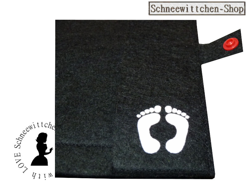 Kleinesbild - Mutterpass Mutter mit Locken und Kind in schwarz