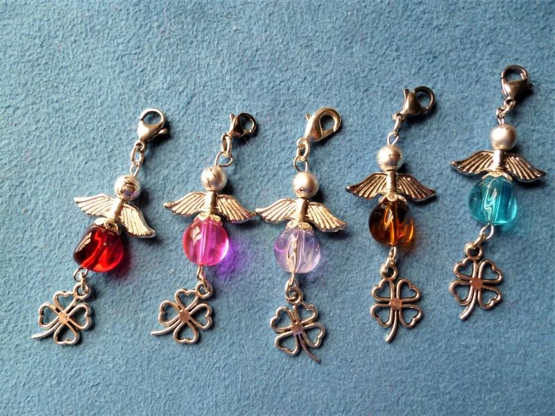 -  5 Stück  Perlenengel, Glücksbringer, Gastgeschenk/Mitgebsel, Geschenkanhänger, Einladungskarten -  5 Stück  Perlenengel, Glücksbringer, Gastgeschenk/Mitgebsel, Geschenkanhänger, Einladungskarten