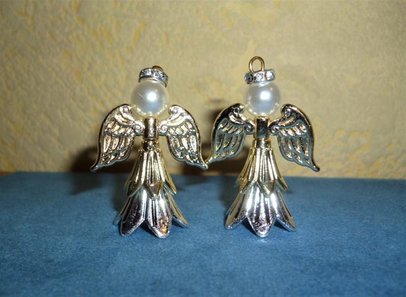 Kleinesbild - Deko-Engel im 2er Set handgefertigt  zum Aufstellen oder aufhängen  - Weihnachtsdekoration -