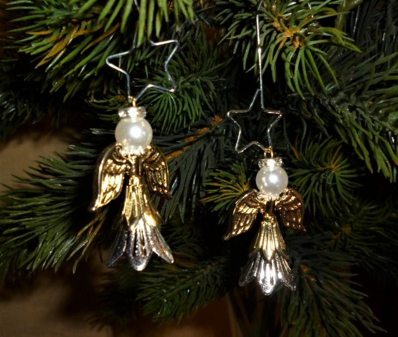 - Deko-Engel im 2er Set handgefertigt  zum Aufstellen oder aufhängen  - Weihnachtsdekoration -  - Deko-Engel im 2er Set handgefertigt  zum Aufstellen oder aufhängen  - Weihnachtsdekoration -