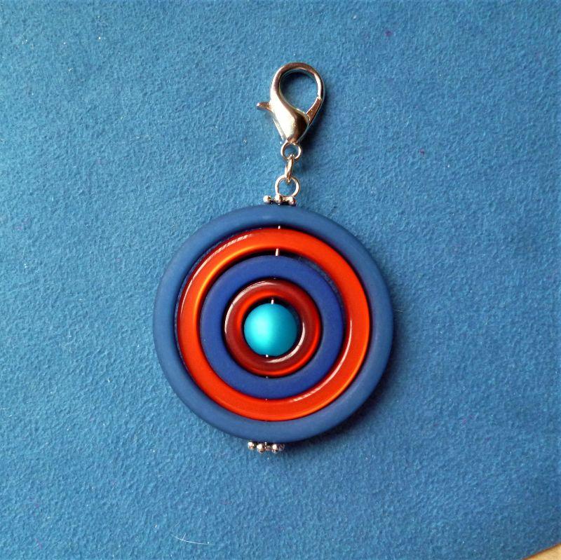 Kleinesbild - Handgefertigter Anhänger aus Polaris Kreativ Elementen *Kreis* - Geschenk für alle -