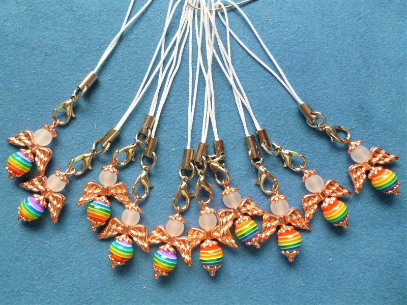 - 10 Stück Schutzengel , Gastgeschenk, Glücksbringer, Schlüsselanhänger, Handyanhänger, Taschenanhänger - 10 Stück Schutzengel , Gastgeschenk, Glücksbringer, Schlüsselanhänger, Handyanhänger, Taschenanhänger