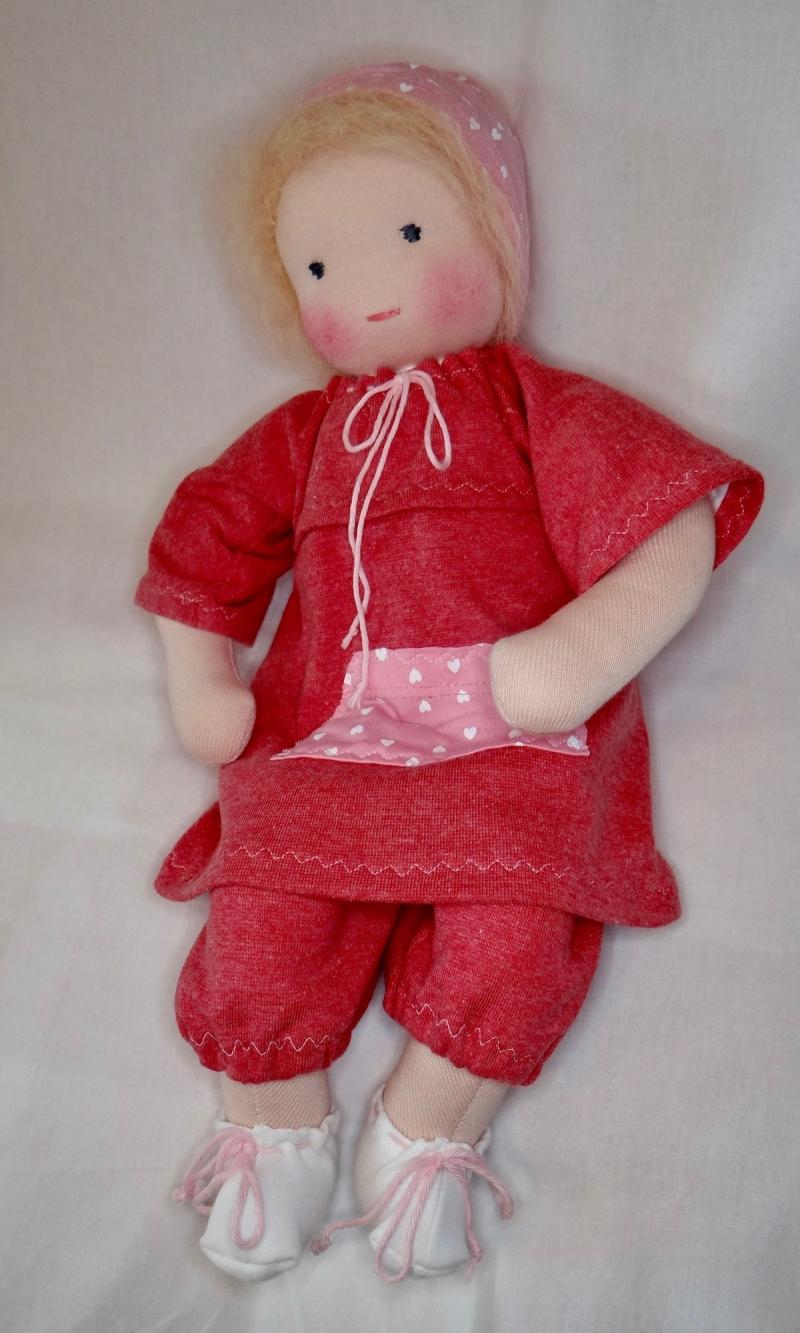 Kleinesbild - Babypuppe Junge ca. 40 cm Versand kostenlos in Handarbeit nachhaltig aus Naturmaterial hergestellt