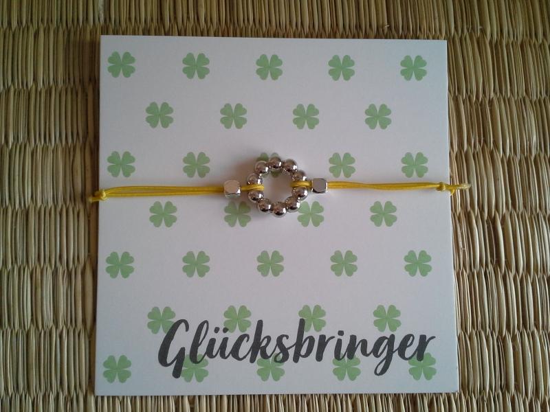 - Armband ★ Kreis ★, elastisches Armband mit Schmuckkarte, Freundschaftsarmband - Armband ★ Kreis ★, elastisches Armband mit Schmuckkarte, Freundschaftsarmband