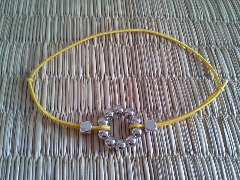 Kleinesbild - Armband ★ Kreis ★, elastisches Armband mit Schmuckkarte, Freundschaftsarmband