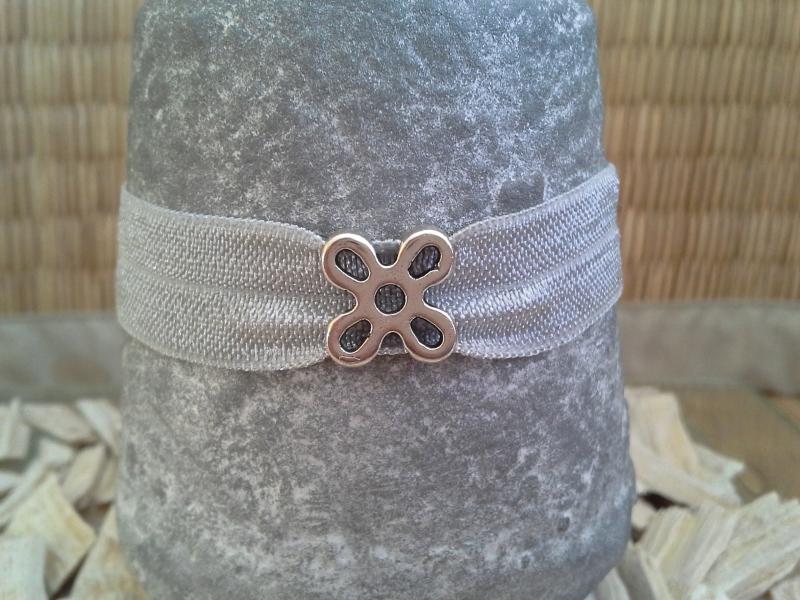 Kleinesbild - Armband ★ Blume ★, mit Schiebeperle auf Schmuckkarte