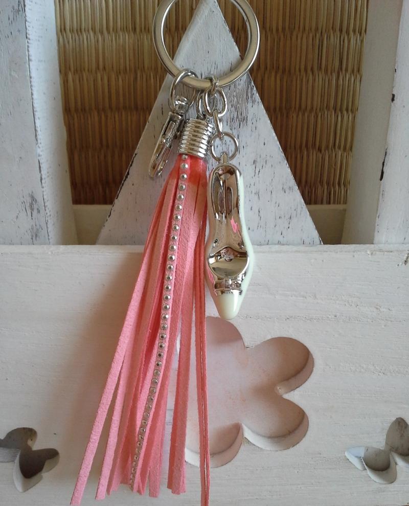 Kleinesbild - Schlüsselanhänger ☆ High Heel ☆ ♥, mit Kunstlederquaste