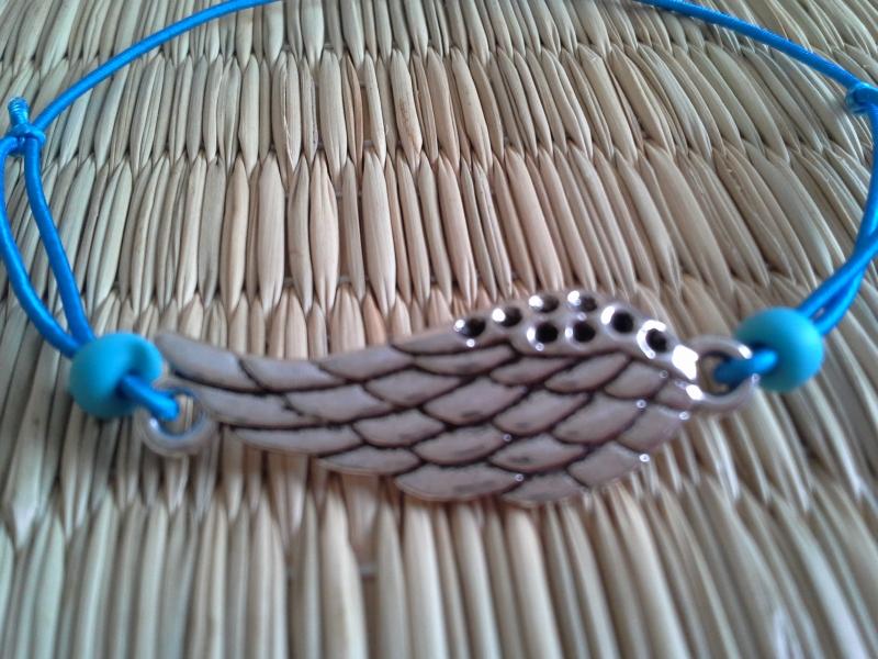 Kleinesbild - Armband ♥ Engelsflügel ♥,  mit Schmuckkarte, Gummiarmband