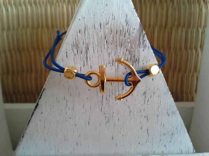Kleinesbild - Armband ♥ Anker ♥ ☆, elastisches Armband mit Schmuckkarte ☆Un-sink-bar☆, Freundschaftsarmband