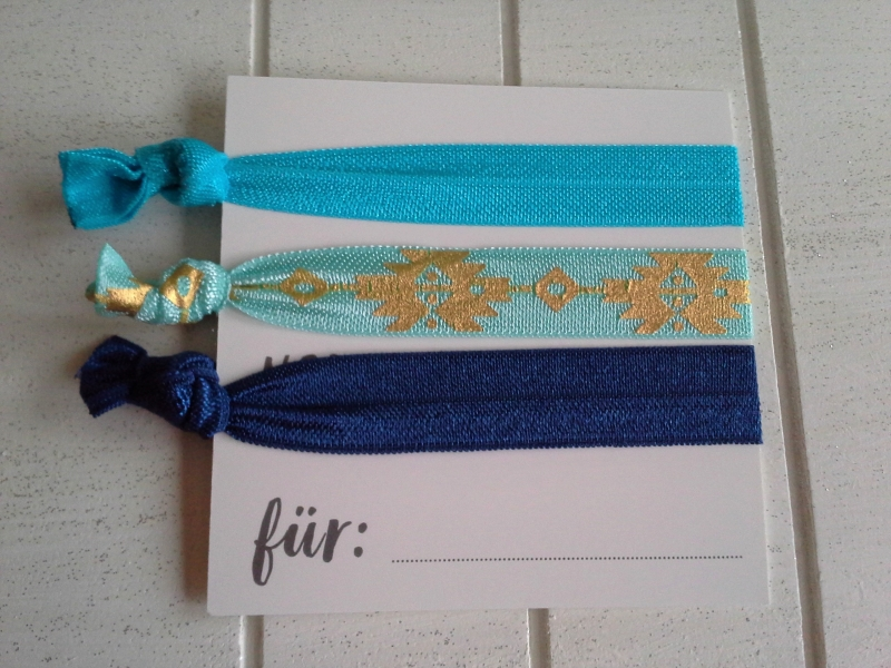 Kleinesbild - Haargummis ♥ Glücksbringer ♥, elastische Haarbänder/Armbänder auf Schmuckkarte