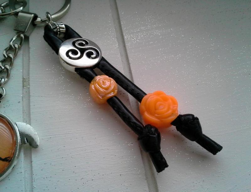 Kleinesbild - Schlüsselanhänger ★ Chakra ★ ♡ , aus Kunstlederband mit Cabochon-Anhänger